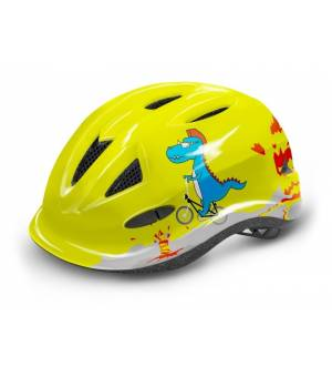 R2 Lucky Jr. Neon Yellow/Grey/Blue cyklistická prilba