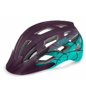 R2 Lumen Purple/Blue Mint cyklistická prilba 2021