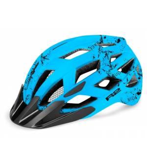 R2 Lumen Junior Blue/Black cyklistická prilba 2021