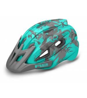 R2 Wheelie Jr. Blue Mint/Grey cyklistická prilba