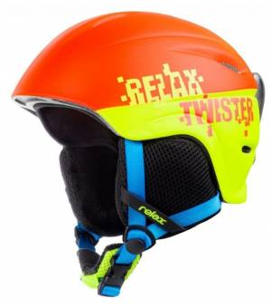 Relax Twister lyž. prilba oranžová žltá