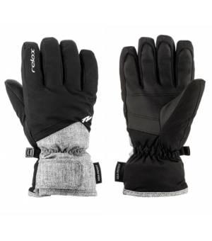 Relax Laro Grey Black lyžiarske rukavice