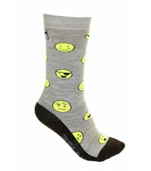 Relax Happy Grey Neon Yellow ponožky