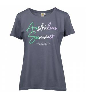 Roadsign T-Shirt Australian Summer Anthracite tričko