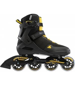 Rollerblade Spark 80 Black/Saffron Yellow Kolieskové korčule