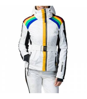 Rossignol W Rainbow Ski Jacket White bunda