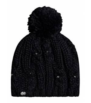 Roxy Sundancing Pom-Pom W Beanie Black čiapka