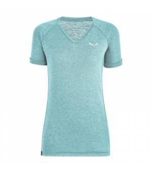 Salewa Puez Dry V-Neck W Tee Blue Melange tričko