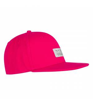 Salewa Puez Canvas Flat Cap rose red šiltovka
