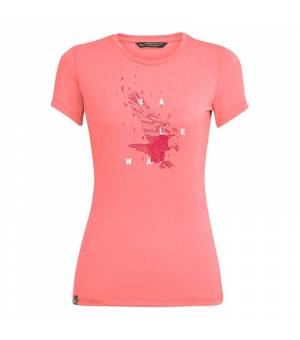 Salewa Eagle Figure Drirelease W T-Shirt shell pink melange tričko
