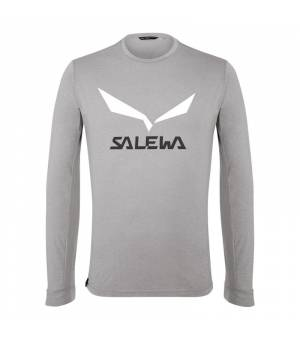 Salewa Solidlogo DryTon M T-Shirt heather grey tričko