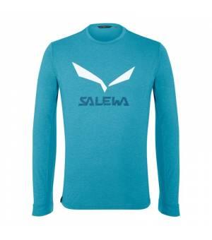 Salewa Solidlogo DryTon M T-Shirt blue danube melange tričko