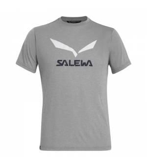 Salewa Solidlogo Drirelease M T-Shirt heather grey tričko