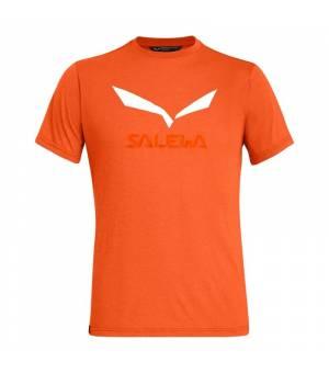 Salewa Solidlogo Drirelease M T-Shirt red orange melange tričko