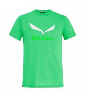 Salewa Solidlogo Drirelease M T-Shirt summer green melange tričko