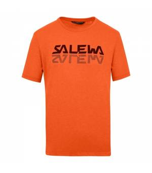 Salewa Reflection Dri-Release M T-Shirt red orange melange tričko