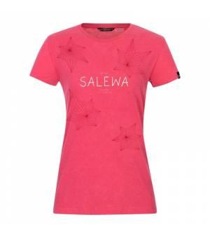 Salewa Geometric Dry W T-Shirt virtual pink melange tričko