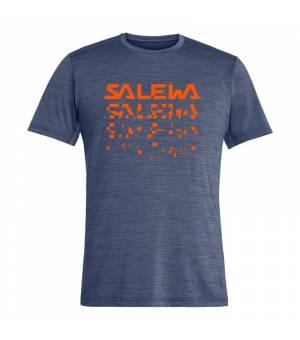 Salewa Puez Hybrid 2 Dry M T-Shirt ombre blue melange tričko