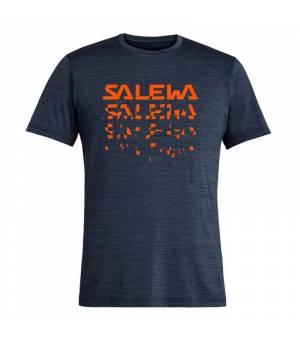 Salewa Puez Hybrid 2 Dry M T-Shirt premium navy melange tričko