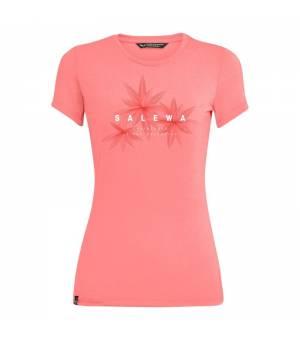 Salewa Lines Graphic Dry W T-Shirt pink shell melange tričko