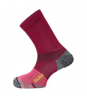 Salewa Trek N Socks red plum/fluo coral ponožky