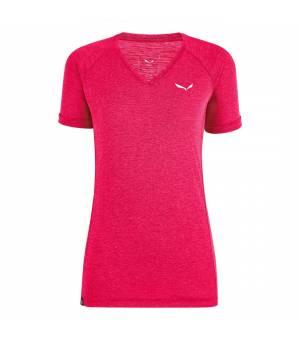 Salewa Puez Melange Dry V-Neck W T-Shirt virtual pink melange tričko