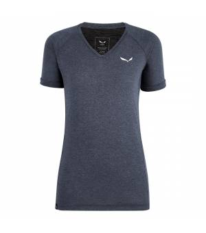 Salewa Puez Melange Dry V-Neck W T-Shirt ombre blue melange tričko