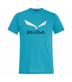 Salewa Solidlogo Drirelease M T-Shirt blue danube melange tričko