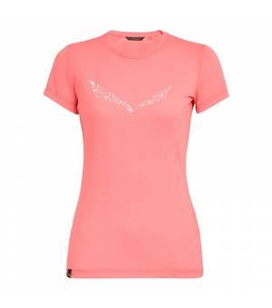 Salewa Solidlogo Drirelease W T-shirt shell pink melange tričko