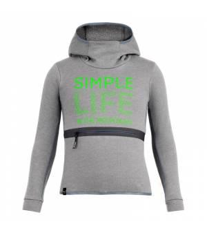 Salewa Simple Life Dry K Hoody grey melange mikina