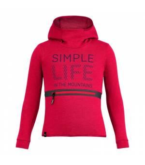 Salewa Simple Life Dry K Hoody virtual pink melange mikina