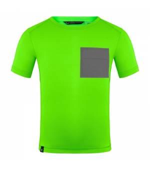 Salewa Pedroc Hybrid Dryton K S/S T-Shirt fluo green tričko