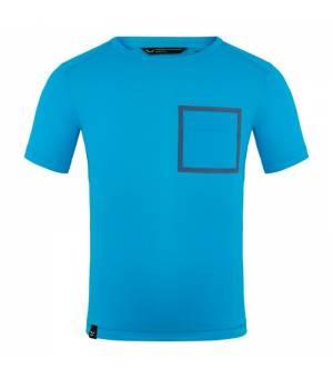 Salewa Pedroc Hybrid Dryton K S/S T-Shirt blue danube tričko