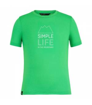 Salewa Simple Life Dry-Release® SS K T-Shirt summer green melange tričko