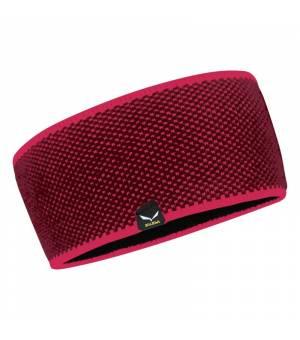 Salewa Puez Wool Headband violet/rhodo red čelenka