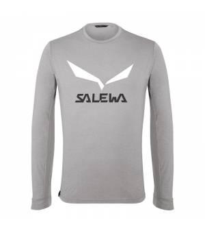 Salewa Solidlogo DryTon M T-Shirt grey/heather grey tričko