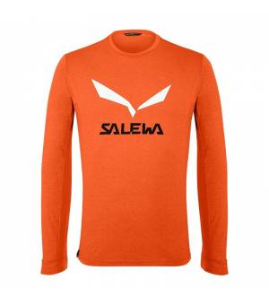 Salewa Solidlogo DryTon M T-Shirt red orange melange tričko