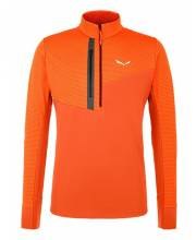 Salewa Vajolet Polarlite Responsive M Half-Zip Jacket red orange mikina