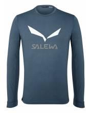 Salewa Solidlogo DryTon M T-Shirt premium navy melange tričko