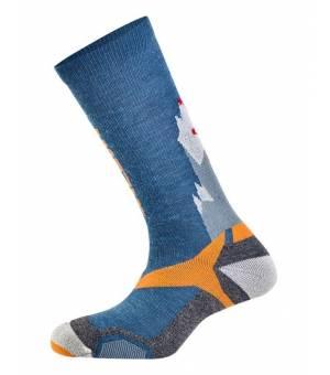 Salewa All Mountain Vital Protection Socks Blue/orange ponožky