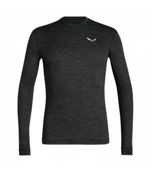 Salewa Puez Melange Dry Longsleeve M Tee black out melange tričko
