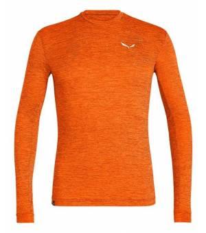 Salewa Puez Melange Dry Longsleeve M Tee red orange melange tričko