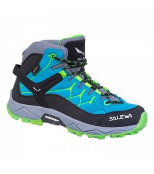 Salewa JR Alp Trainer Mid GTX blue danube/fluo green