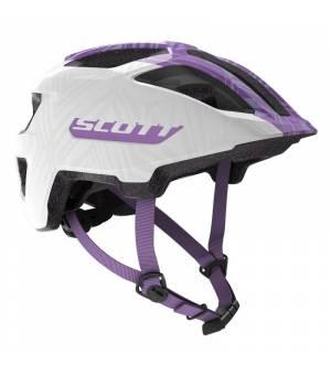 Scott Spunto Jr. White/Violet 50-56 cm cyklistická prilba 2020