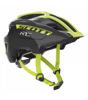 Scott Spunto Jr. Black/Neon Green cyklistická prilba 50-56 cm 2020