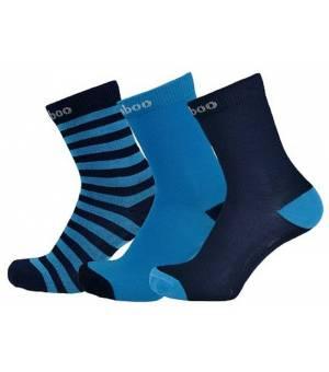 Sherpax Logan 3 pack ponožky modré