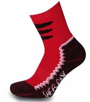 Sherpax Laudo light Jrs ponožky červené