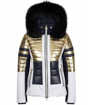 Sportalm King Metallic M.Kap W Ski Jacket Gold bunda