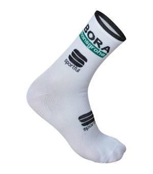 Sportful Bora-hansgrohe cyklistické ponožky biele