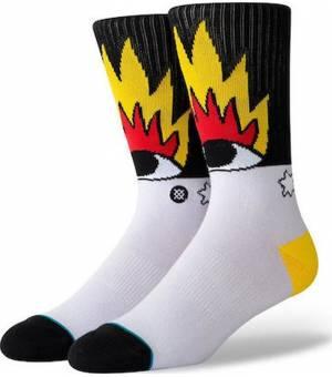 Stance Fire And Eyes Multi Ponožky Biele